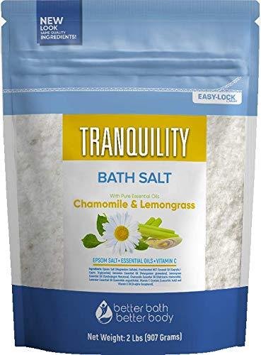 Tranquility Bath Choice Salt 32 Ounces with Natural Geranium depot Epsom
