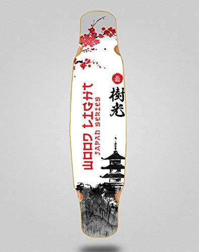 Wood light Skateboard Longboard Deck Mix Bamboo 46x9 Japan Series Palace