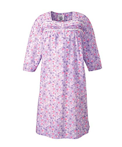 Silverts Disabled Elderly Needs Women's Cotton Hospital Nightgown