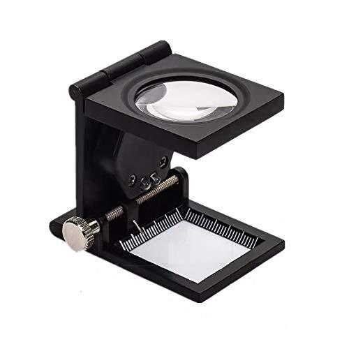 Desktop Klassische Lupe Geeignet for Einen Teil Ihres Sehvermögens Oder Jedermann Hohe Qualität Wahrer Glaspräzisionslinse Makuladegeneration Lesehilfe Lupe (Farbe : Schwarz)