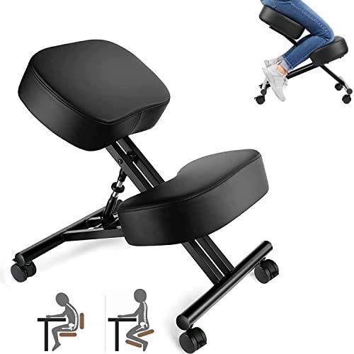 Kniestuhl, Verstellbarer Kniestuhl, ergonomischer Hocker, geeignet für Zuhause und Büro,...