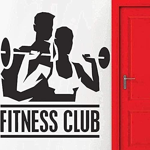 Pegatinas de pared de PVC para niños, pegatinas de pared para dormitorio, sala de estar, Fitness, Club, pegatina de fitness para hombres y mujeres, 48x42cm