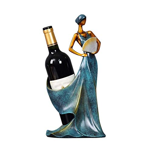 ZUQIEE Estante de vino, moderno minimalista estante de vino botella de vino estante hogar sala de estar vino estante resina personaje botella botella de vino decoración gabinete vino estante regalo