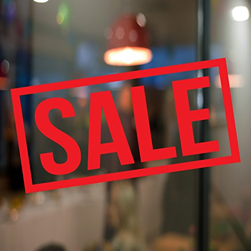Sale Shop Vinyl Sticker Window Lettering Wall art sign Front design exterior