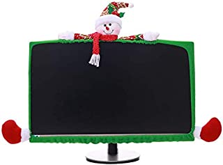 Chris.W Snow Man Computer Monitor Dust Cover Christmas Decoration for 19