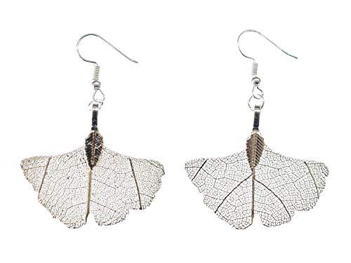 Miniblings cintre Ginkgo biloba Boucles d oreille feuille de feuille Ginko Nature Chine - Bijoux Fashion main argenté Boucles d oreille