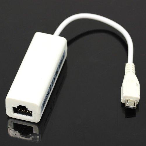 HeroNeo Trendy Micro Mini 5 pin USB a RJ45 10/100 m red Ethernet adaptador para mesa de PC