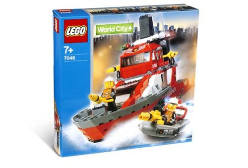 LEGO World City 7046 - Feuerwehrschiff
