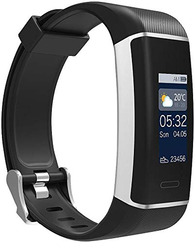 newgen medicals Fitnesstracker: Fitness-GPS-Armband mit XL-Farb-Display & App für 6 Sportarten, IP67 (Pulsuhren)