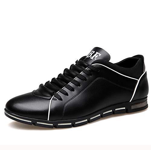 Hombres corriendo Baloncesto Cuero Deportes Zapatos casuales Moda Juvenil Fiesta de negocios al aire libre Adulto Transpirable Usable Negro Marrón Amarillo Rojo Azul Tamaño grande 38-48