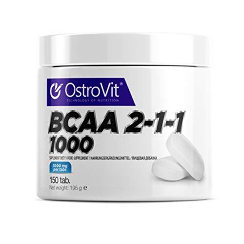 Ostrovit BCAA 2-1-1 1000 Paquet de 1 x 150 Tabletas Aminoácidos de Cadena Ramificada - Leucina Isoleucina Valina – Pura