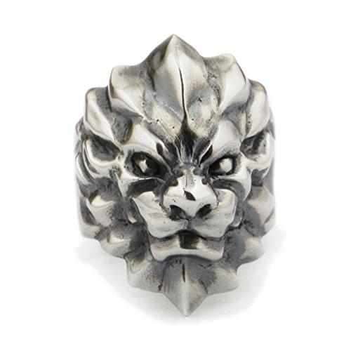 Linsion Fashion Wolverine Wolf mens anello in argento Sterling 925anello da uomo Biker gioielli TA01A, Argento, 13,5, cod. TA01A--7