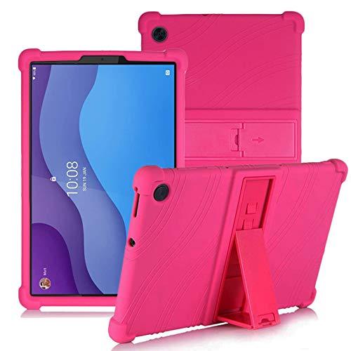 YGoal Custodia per Lenovo Tab M10 HD 2nd Gen - Leggera Custodia Protettiva Antiurto per Bambini Morbida Silicone Case Cover per Lenovo Tab M10 HD 2 TB-X306X X306F 10.1 Pollice Tablet, Rosa