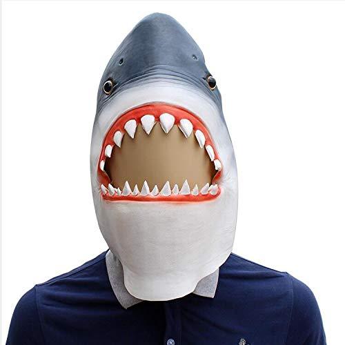 Miminuo Neuheit Tier Shark Maske Latex Head Set Männer Abendkleid-Partei Halloween 3D Tierkopf-Maske