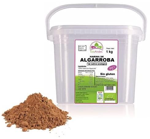 Harina de Algarroba Ecológica. SIN GLUTEN. 1 kg. Polvo de Algarroba. Ecológica. Vegana. Agricultura Española.