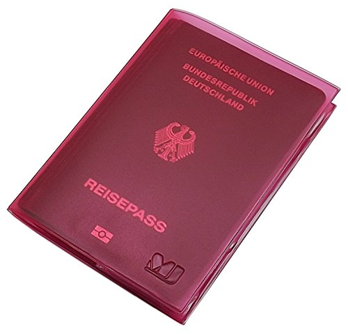 Reisepass Schutzhülle 2 Fächer MJ-Design-Germany in verschiedenen trendigen Farben Made in EU (Rosa)