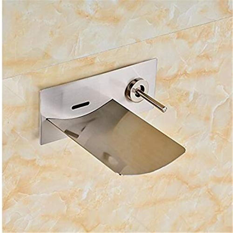 Mischbatterie Brause Drehbar Bad Spültischauslauf Mit Einhand-Wasserhahn Für Bad Nickel Gebürstet An Der Wand