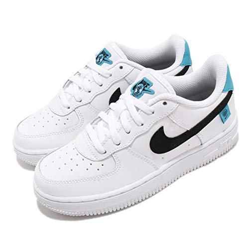 Nike Force 1 LV8 1 (TD), Zapatillas de básquetbol para Niños, White Black Blue Fury, 25 EU