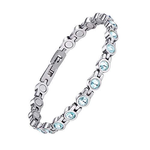 Jeroot Magnetarmband,Herren Magnetische Armbänder für Arthritis Verschluss Edelstahl Armband Magnet Herren Gesundheit Magnetarmband Energetix … (Green)