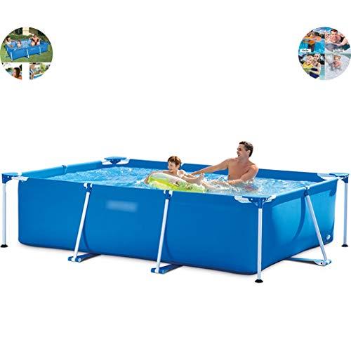 Priority Culture Aufblasbarer Pool Family Lounge Pool,Großer Außenpool, Garten Erwachsenen Und Kinder Unterhaltungspool, Sommerwasserparty (Color : Blue, Size : 7.2ft)