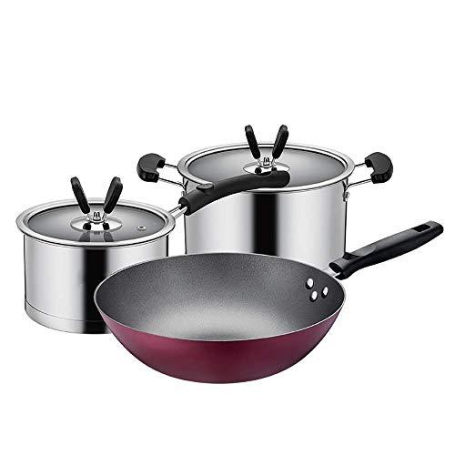 WRMIGN Chef Classic - Olla para leche (3 piezas, acero inoxi