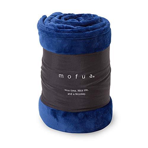 mofua (モフア) 毛布 シングル(140×200cm) ネイビー あったか 冬用 ブランケット プレミアムマイクロファイバー モフモフ 静電気防止 洗える エコテックス認証 50000107