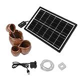 Liujaos Bomba de Agua Solar, Kit de Bomba Solar de decoración para Tanques de Peces para Agua circulante de oxígeno