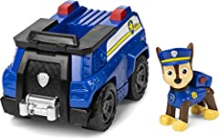 POLICE CRUISER TOY CAR: Chase is on the case in his Patrol Cruiser! With authentic detailing and working wheels, this police cruiser is ready to take on exciting rescue missions! COLLECTIBLE CHASE FIGURE: This police cruiser includes a collectible Ch...