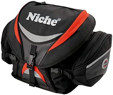 Niche Deluxe Motorcycle Rear Travel Bag Weather Resistant Heavy Duty Tail Bag Tail Trunk Water product image