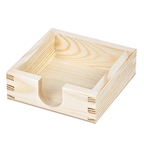 Bierdeckelhalter für quadratische Bierdeckel Bierdeckelbox Holz Bierdeckelständer