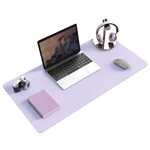 "Non-Slip Desk pad,New Material Leather Desk Blotter Pad,Soft Surface Desk Mat,Easy Clean Laptop Desk Writing Mat for Office/Home (Grayish Lavender, 31.5"" x 15.7"")"