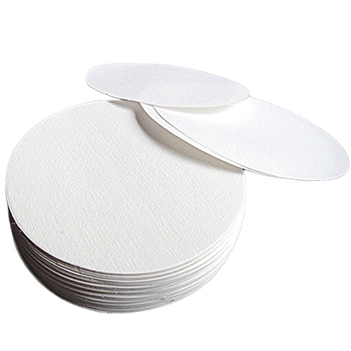 100X Milopon Filterpapier Mittelvolumenstrom Qualitative Kreise Runde Filterpapier für Labor Maschinenölteste Durchmesser 15cm