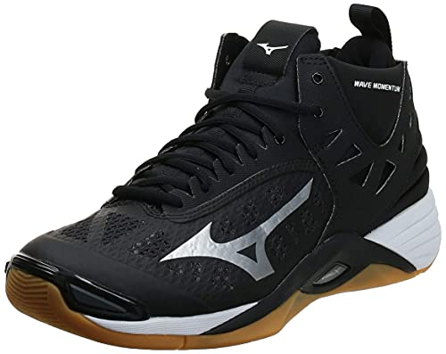Mizuno Men's Wave Momentum Mid Volleyball Shoe, blacksilver,...