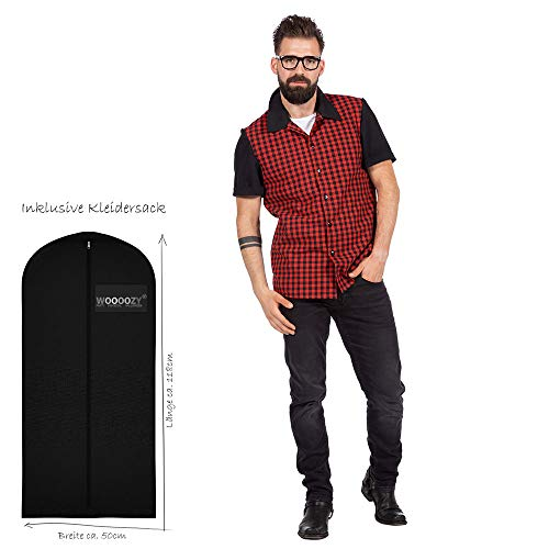 WOOOOZY Premium-Line Herren-Hemd Rockabilly Bobby, Gr. 54 - inklusive praktischem Kleidersack