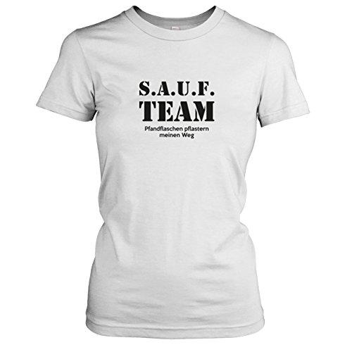 TEXLAB - SAUF Team - Damen T-Shirt, Größe XL, weiß