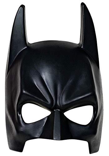 Maschera per Costume Batman - Travestimento - Carnevale - Halloween - Uomo Pipistrello - Super eroe - Colore Nero - Bambini - 7-10 anni - Idea regalo per natale e compleanno