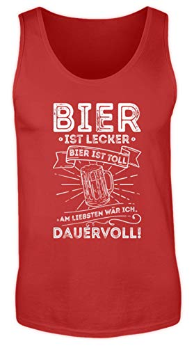 Values Tees Bier is lekker bier is geweldig om het liefste permanent I Party & JGA - heren tanktop