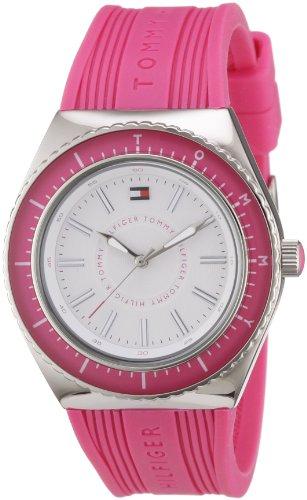 Tommy Hilfiger 1781004 TH WTCH - Reloj analógico de mujer de cuarzo con correa de goma rosa