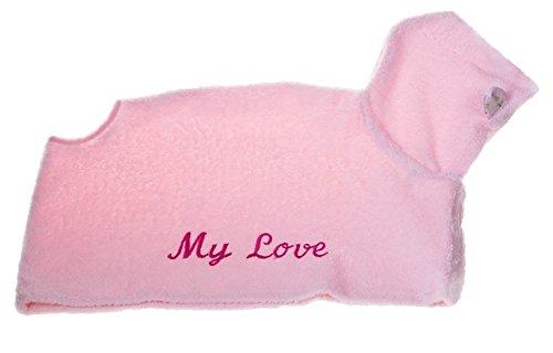MICHI MICHI-LB05 Bathrobe My Love Pink Hund Bademantel, L