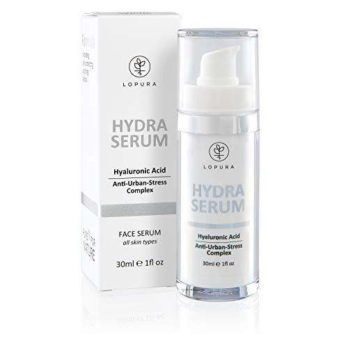 LOPURA Hydra Serum mit Anti-Urban-Stress Complex – hochdosierte Gesichtspflege mit Hyaluronsäure,...
