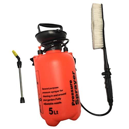 Baoblaze 5L Tragbare Auto Power Hochdruckreiniger Bürste Jet Spray Handpumpe Wireless - Orange