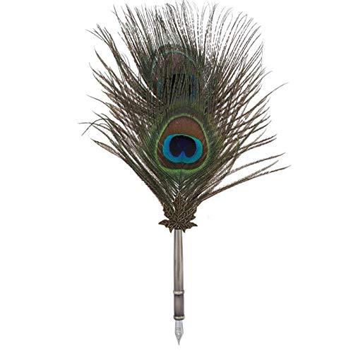 Juego de bolígrafos de caligrafía, bolígrafo retro con 5 puntas de acero inoxidable, 3 ceras de sellado, juego de bolígrafos de escritura antigua con caja de embalaje de regalo(#1)