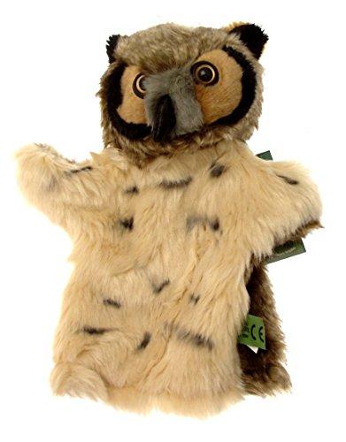 Ou Hibou Chouette-Marionnette à main-Marron-tête