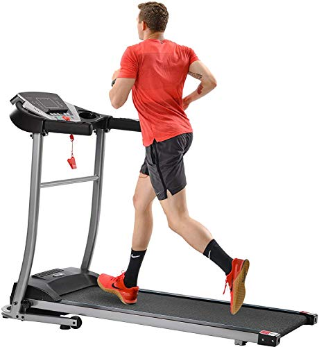 Treadmill for Home, Treadmill with Incline with 3 Manual inclines, Folding Electric Treadmill, Motorized Running Machine Treadmills for Home, with LCD, Easy Assembly (Dark Black)