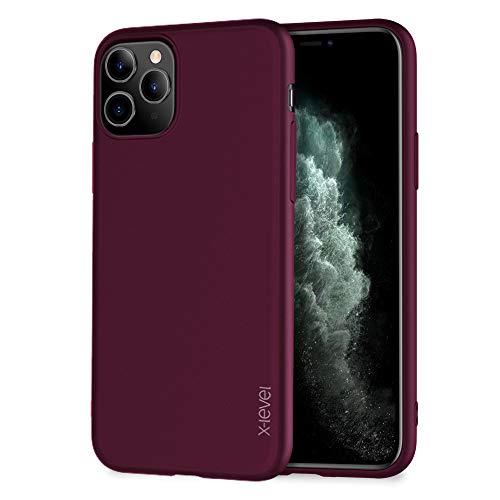 X-level für iPhone 11 Pro Hülle, [Guardian Serie] Soft Flex TPU Hülle Superdünn Handyhülle Silikon Bumper Cover Schutz Tasche Schale Schutzhülle Kompatibel mit iPhone 11 Pro 5,8 Zoll - Weinrot