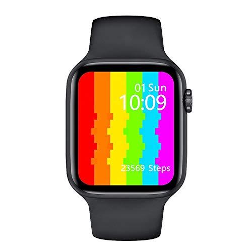 Smart Watch Men's Women's Honeycomb Female Call Sports 40mm 44mm IWO 12 SmartWatch Hombre IP68 Reloj Inteligente Impermeable iOS, Liqingshangmao (Color : Black, Size : 40mm 1.54inch)