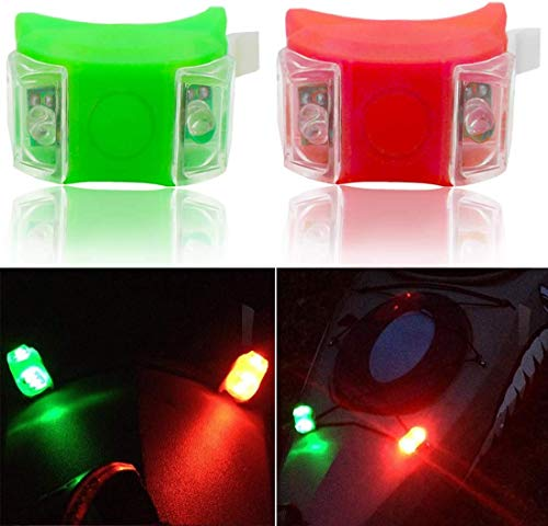 Botepon - Luces de Emergencia para Barco, pontón, Kayak, yate, lancha, Barco, Barco, Dinghy, catamarán, Color Rojo y Verde