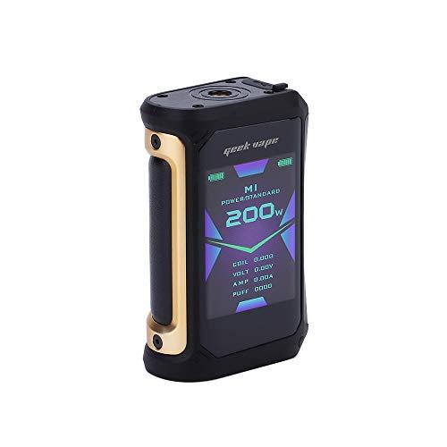 Cigarettes électroniques Geekvape Aegis X 200W Mod Mod avec écran OLED de 2,4 pouces et conception étanche IP67 avec modes VW/TC/VPC sans batterie ni nicotine(Gold Black)
