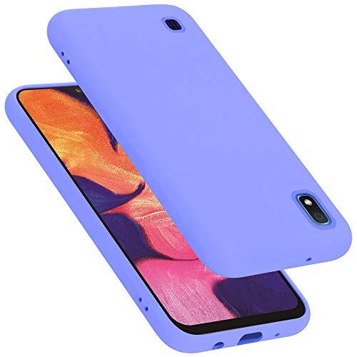 Cadorabo Custodia per Samsung Galaxy A10 in LIQUID LILA CHIARO - Morbida Cover Protettiva Sottile di Silicone TPU con Bordo Protezione - Ultra Slim Case Antiurto Gel Back Bumper Guscio