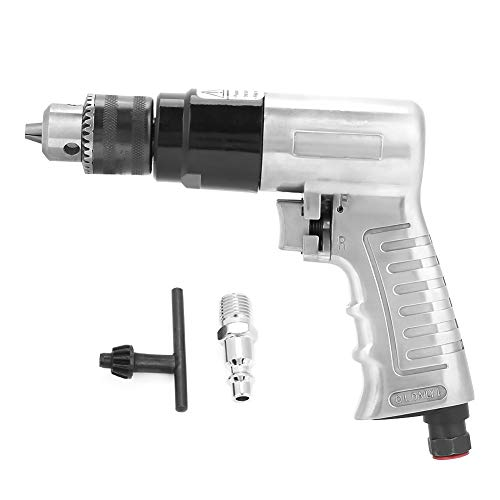 """Pneumatic Drill, 3/8"""" 1700rpm High-Speed Pneumatic Air DrillReversible Rotation Air Drill Tool for Hole Drilling"""